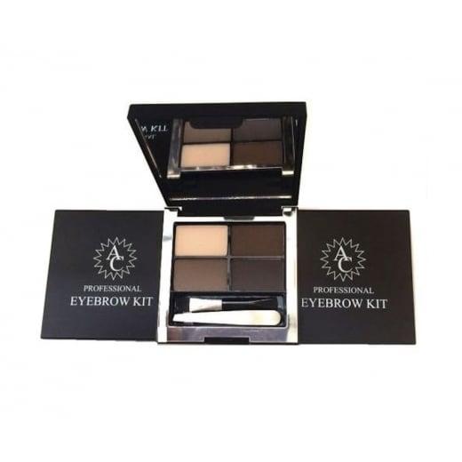 AC Professional Eyebrow Quad Kit - Includes Powders, Wax, Mirror, Brush & Tweezer