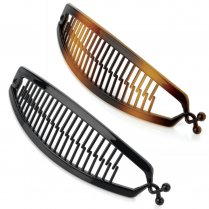 15cm Fish Tail Banana Hair Clip Grip Slide Hair Accessory - Black Or Brown