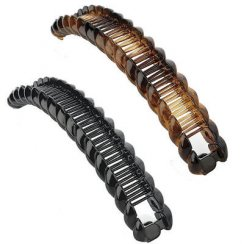 16.5cm Banana Hair Clip Grip Slide Hair Accessory - Black Or Brown