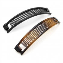 2 Piece 13cm Banana Hair Clip Grip Slide Accessory Set - Black &  Brown 28607