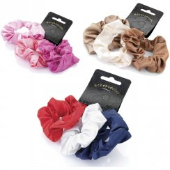 3 Piece Elasticated Satin Look Hair Scrunchie Accessory Set