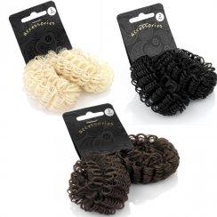 Imitation Hair Look Elasticated Doughnut Donut Ring Shaper Hair Accessory