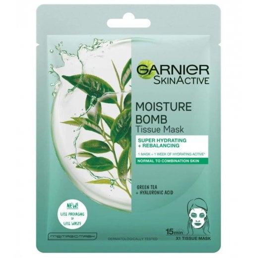 Garnier Moisture Bomb Tissue Rebalancing Mask - Green Tea