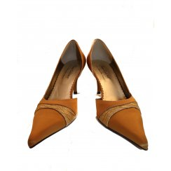 Ladies Gold Fashion Heels By Shoes Galore - Size Uk 5