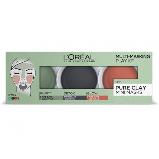 L'Oreal 3 Pure Clay Multi-Masking Face Mask Play Kit