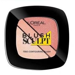 L'Oreal Blush Sculpt Trio Contouring Blush - 102 Nude Beige