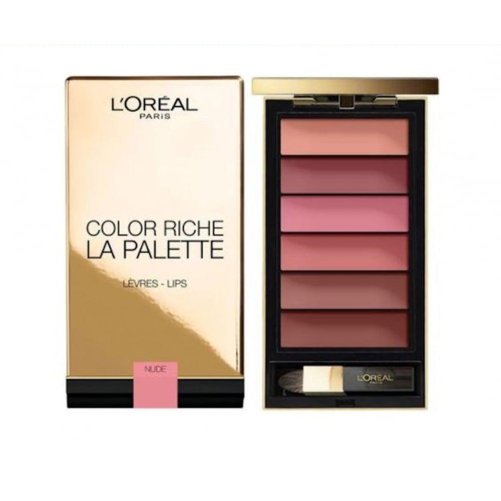 L'Oreal L'Oreal Color Riche La Palette Lip Palette - Nude - L'Oreal from  High Street Brands 4 Less UK