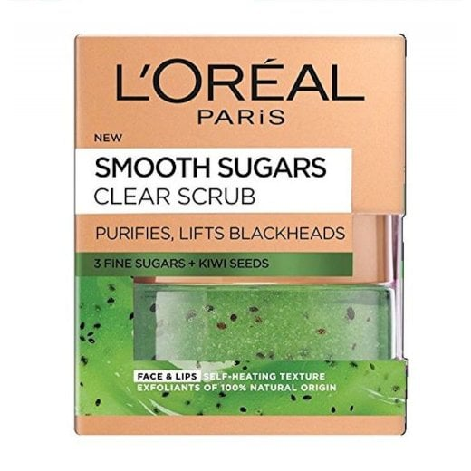 L'Oreal Smooth Sugars Clear Scrub - Kiwi Seeds