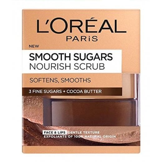 L'Oreal Smooth Sugars Nourish Scrub - Cocoa Butter