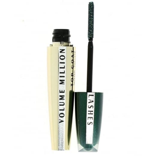 L'Oreal Volume Million Lashes Glitter Top Coat - Green