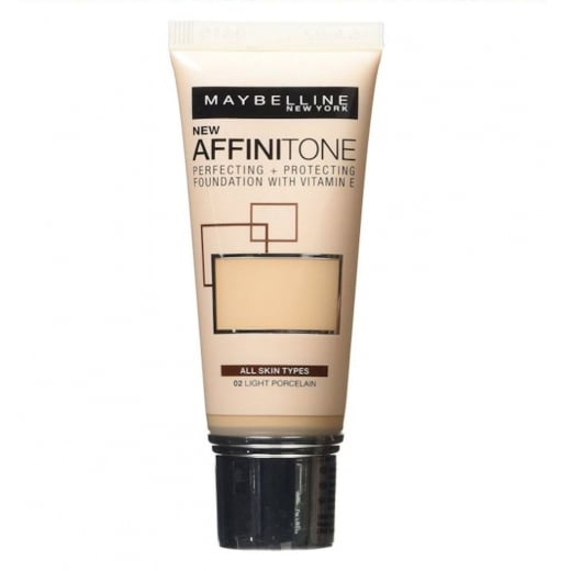 Maybelline Affinitone Perfecting + Protecting Foundation - 02 Light Porcelain