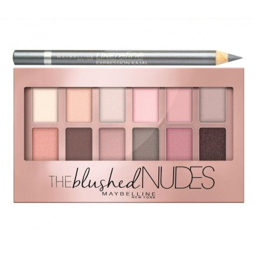 Maybelline The Blushed Nudes Eyeshadow Palette With Free Pencil