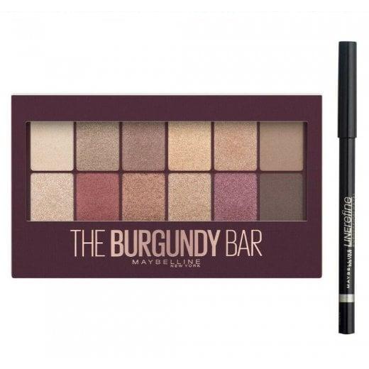Maybelline The Burgundy Bar Eyeshadow Palette With Free Eyeliner
