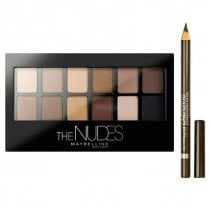 Maybelline The Nudes Eyeshadow Palette With Free Pencil