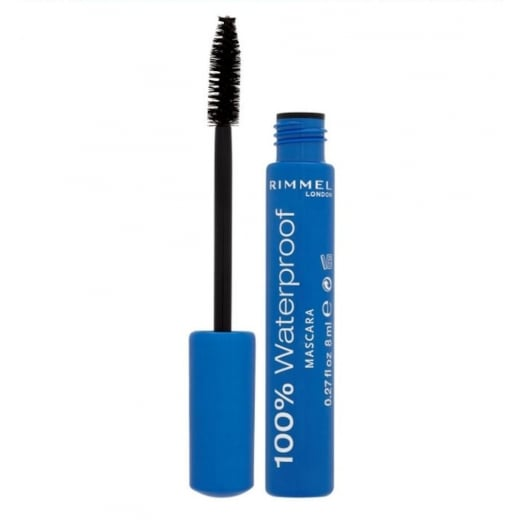 Rimmel 100% Waterproof Mascara - 001 Black Black