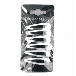 Silver Coloured Plain Sleepie Hair Clips