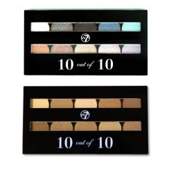 W7 10 out of 10 Eyeshadow Palette Set - Browns / Neutrals or Assorted Shimmers